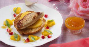 Le Foie Gras poêlé sur tendre brioche toastée