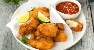 Nuggets de poulet sauce au curry rouge