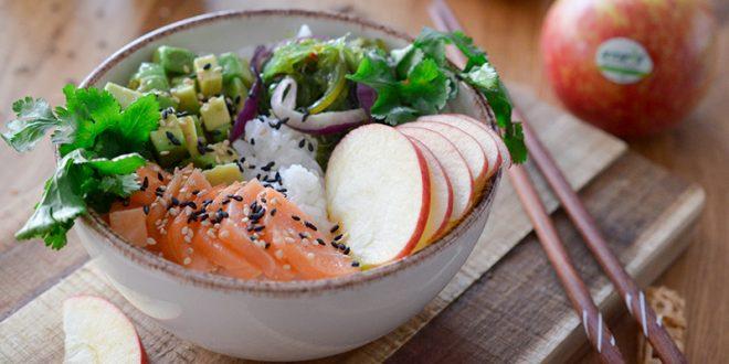 Poke bowl saumon, pommes Antarès®