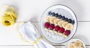 Porridge de graines de chia à la banane