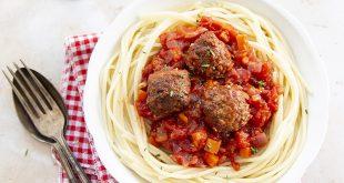 Spaghetti tomate & boulettes vegan