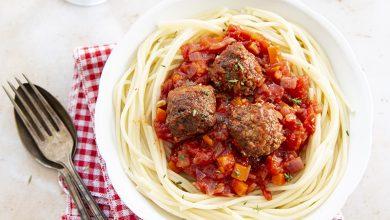 Photo de Spaghetti tomate & boulettes vegan