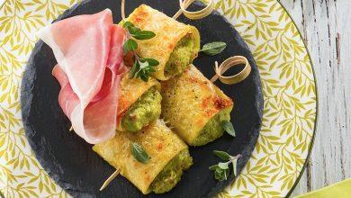 Photo de Brochettes de paccheri farcies au Jambon de Parme et à la crème d'asperges