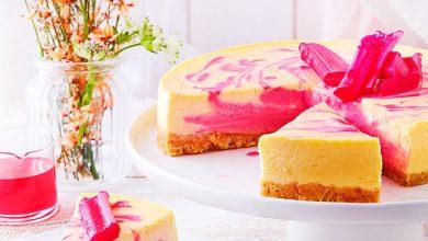 Photo de Cheesecake à la rhubarbe
