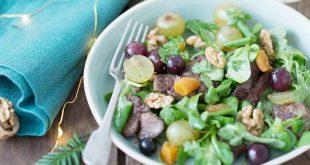 Salade d'hiver à la Noix et huile de Noix du Périgord AOP