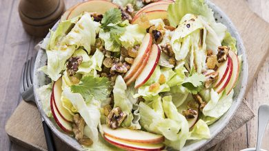 Photo de Salade fraîcheur à la Iceberg Florette® Agrilogique pommes & raisins secs
