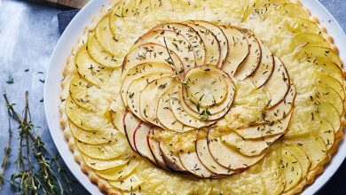 Photo de Tarte fine aux 2 pommes au Vacherin® Fribourgeois AOP