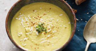 Velouté d'endives, noix de coco et curry