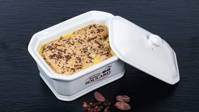 Photo de Foie gras de canard mi-cuit aux fèves de cacao