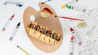 Photo de Wok du soleil en hot-dog poivrons & bœuf