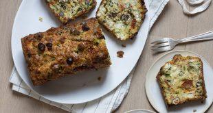 Cake aux courgettes et au chèvre à la farine de blé tendre
