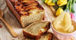 Cake vegan poires & noisettes