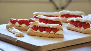 Photo de Éclairs minutes aux fraises