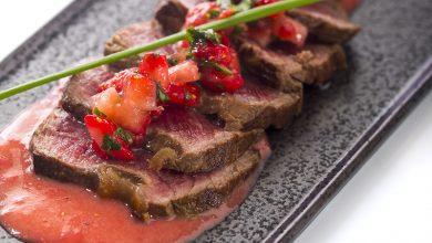 Photo de Tataki de bœuf aux fraises