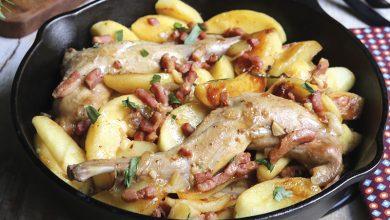 Photo de Gigolettes de lapin aux pommes, au cidre et à l'estragon