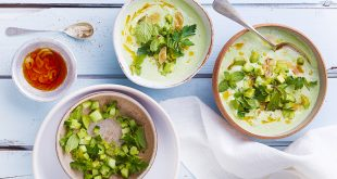 Green gaspacho au yaourt