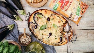 Photo de Lasagnes aux aubergines et « Trio Gourmand » Entremont