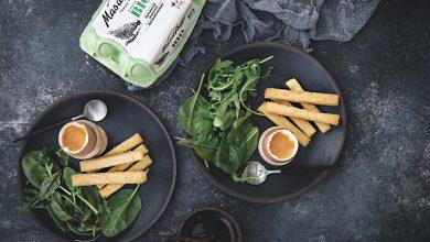 Photo de Œuf à la coque Mas d'Auge et frites de polenta au parmesan