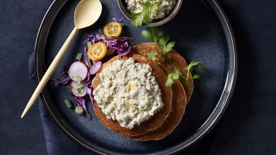 Photo de Pancakes salés au sarrasin Tartinables Merlu blanc, citron coriandre