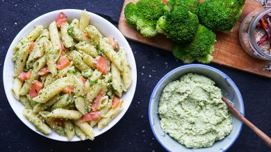 Photo de Penne au saumon et pesto de brocoli