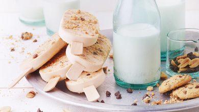 Photo de Bâtonnets glacés cookies et lait