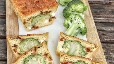 Photo de Cake brocoli feta et tomates confites