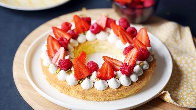 Photo de Gâteau-tarte crème vanille et fruits rouges