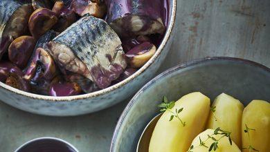 Photo de Maquereaux en meurette et pommes de terre vapeur