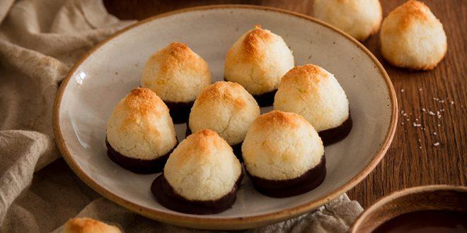 Rochers coco, citron et chocolat noir