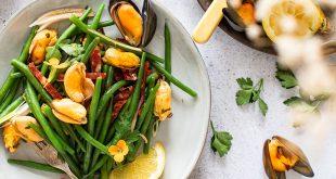 Salade de moules au chorizo et haricots verts