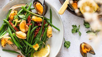 Photo de Salade de moules au chorizo et haricots verts