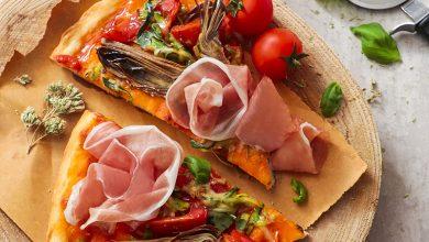 Photo de Pizza aux crudités et au Jambon de Parme