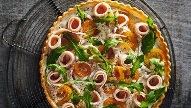 Photo de Tarte au poulet, fromage frais, poivrons, piment d'Espelette