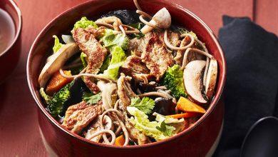Photo de Nouilles soba au veau émincé et champignons