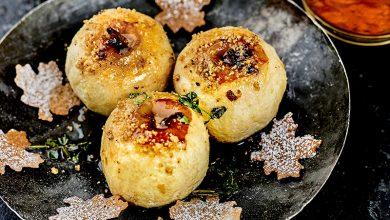 Photo de Pommes rôties au thym citron Feuilles croustillantes « coco-châtaigne »
