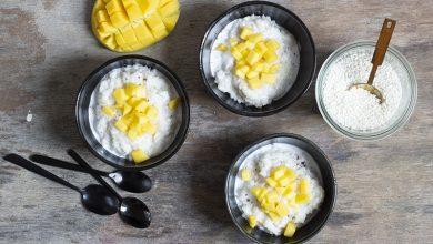 Photo de Riz gluant au lait de coco et mangue