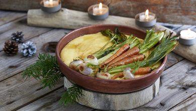 Photo de Polenta crémeuse & légumes rôtis
