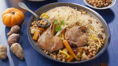 Photo de Couscous au Confit de canard et aux légumes anciens