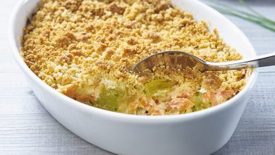 Photo de Crumble saumon poireaux