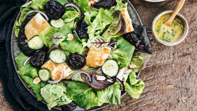 Photo de Salade aux Pruneaux d'Agen IGP, halloumi et amandes effilées