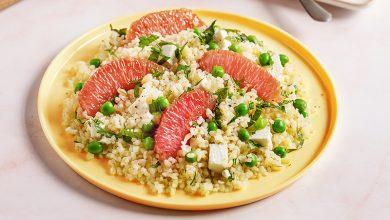 Photo de Salade de boulgour au pamplemousse de Floride, petit pois et feta