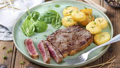 Photo de Faux-filet fumé au foin et ses pommes de terre confites