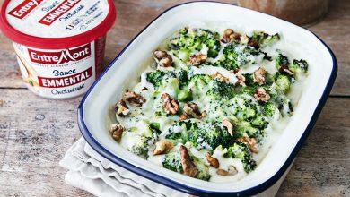 Photo de Gratin de brocolis, noix et sauce Emmental Entremont