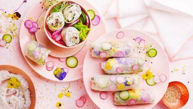 Photo de Rouleaux fleuris au fromage