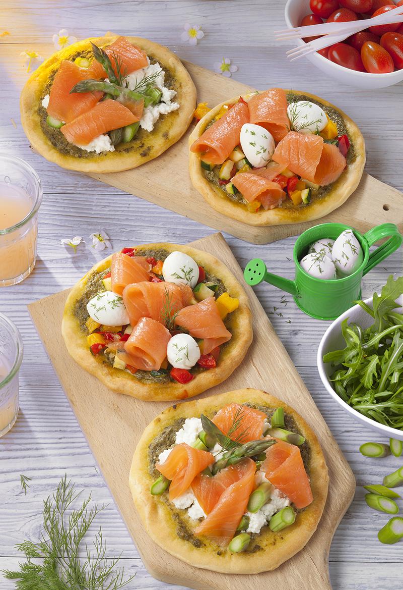 Mini-pizzas Saumon Fumé