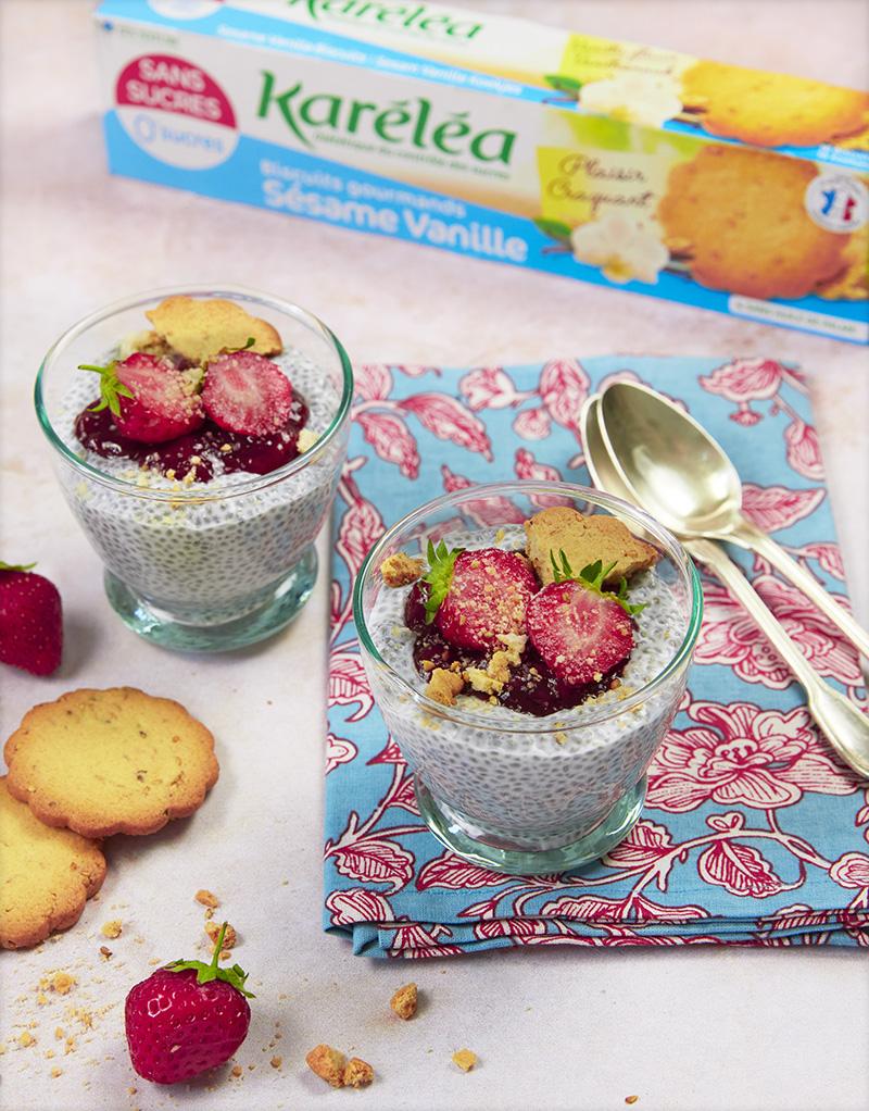 Porridge graines de chia fraises Karéléa