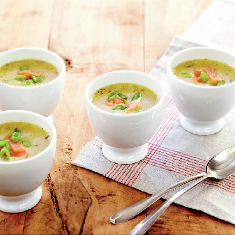 Soupe moutarde, Appenzeller® Fromage crème saumon fumé
