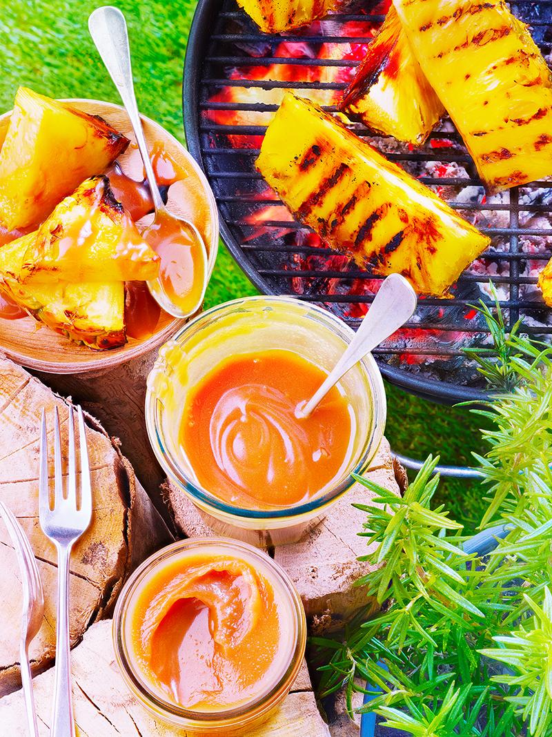 Ananas grillé sauce crémeuse caramélisée