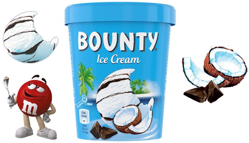 Crème glacée Bounty