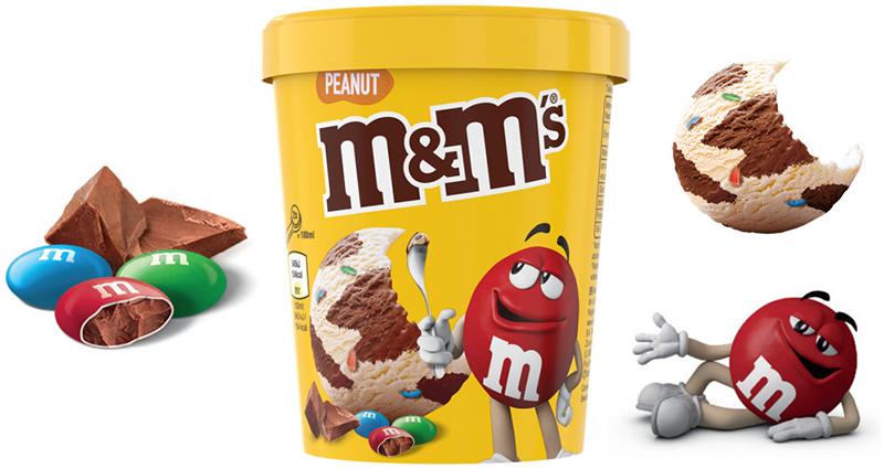 Crème glacée M&M's